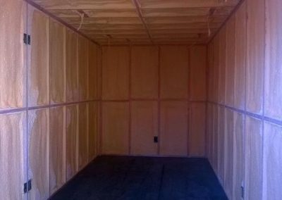 Shipping container after insulation