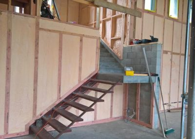 Standard residential spray foam insulation